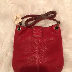 Bags - Red Fossil Leather purse